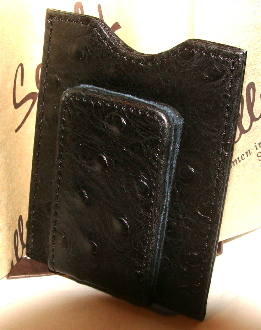 money clip, money clip men, money clip card case, money clip leather, money clip ostrich, ostrich money clip, brown money clip