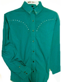 Womens western shirt, green western shirt, lady western shirt, green rhinestone western shirt, ladies green western shirt, girls green western shirt, cowgirl shirt