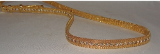 Single Strand Gold Mesh with Austrian Crystals hat band