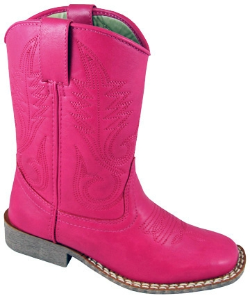 youth square toe pink cowboy boots