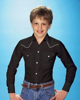 Kids Ely White Piped Black Western Shirt, Kids Ely Piped Western Shirt,child western shirt, western shirts for kids, child western clothing