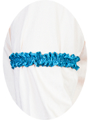 USA Made Scully Wahmaker Aqua Blue Sleeve Garter