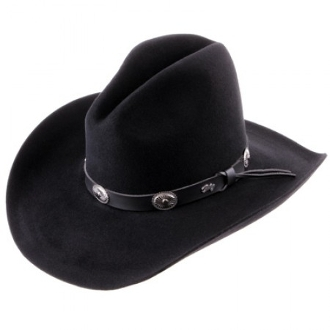 "This ""TOMBSTONE"" Bailey 2X Black wool Cowboy hat was made for you in the USA. Take pride in your American Made Matters western hat by Bailey Hats. Look just like a character in a western movie with this cowboy hat."