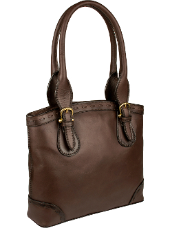 Pebble Brown Leather Womens Scully Shoulder bag Handbag Purse