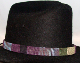 "This 3/4"" Tapestry Purple Southwestern Cowboy Hat Band is for the person who is looking for a larger fitting hat band. This southwestern designed hat band fits the bigger cowboy hat sizes."