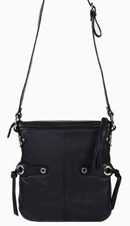 This Women's Scully Black Lambskin Leather Cross Body Purse is made of soft lambskin leather with a western tassel accent. The strap is fully adjustable for a should or cross body handbag.