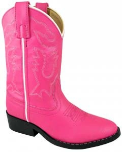 """Pink Monterey"" Youth Hot Pink Cowboy Boots"