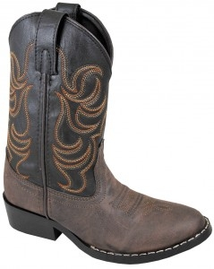 """Brown Monterey"" Youth Black and Brown Cowboy Boots"