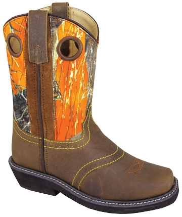 Youth Square Toe True Timber PURPLE Camo Cowboy Boots