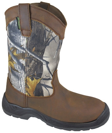 """Brushfield"" True Timber Mens Waterproof Steel Toe Cowboy boots"
