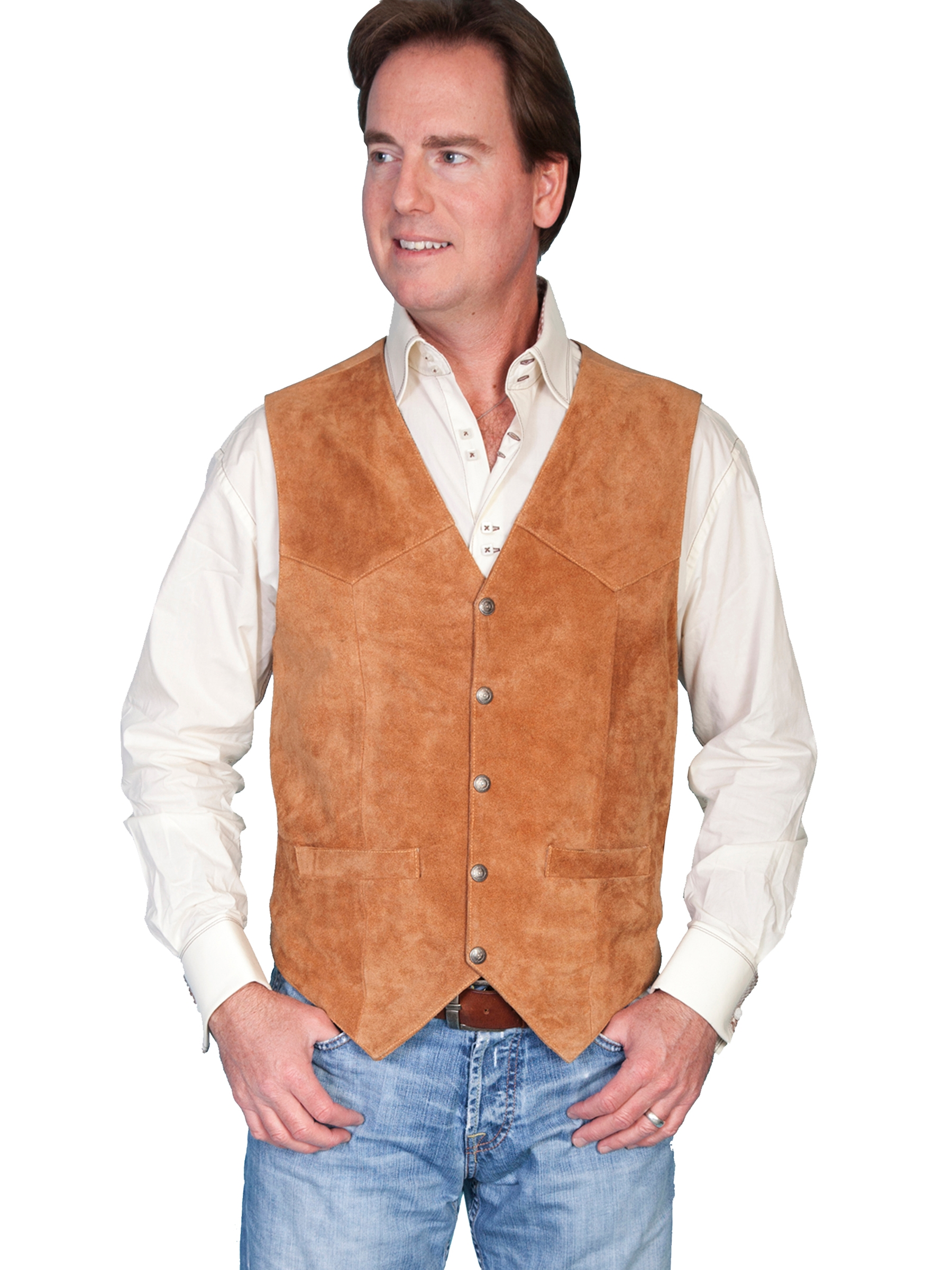 About Men's Leather Vests Overland Sheepskin Co. is the most trusted source of quality men's leather vests. Our leather vests for men are meticulously constructed of impeccably fine leather for long-lasting warmth, comfort, and style.