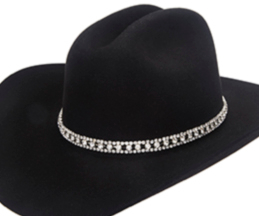 3 Row Large Crystal Rhinestone Cowboy Hat Band, cowboy hat bands, western hat bands, crystal hat bands