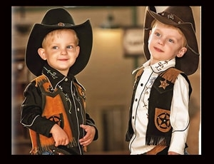The largest selection of the best kids western wear around. Childrens western vests and shirts in all sizes for kids who love to look like a real cowgirl and cowboy. Retro toy guns and genuine leather kids toy gun holsters.