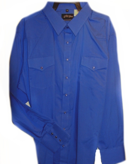 Mens Pearl snap, Long Sleeve Royal blue western shirt, royal blue western shirt, mens royal blue western shirt, royal blue western show shirt, mens royal blue western shirt, western shirts for men, cowboy shirt