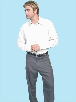 Mens Charcoal Grey Western dress pants with smile pockets
