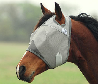 This Standard Crusader UV Rated Horse Fly Mask blocks 70% of the sun's rays protecting your horse with a unique design that stays put while your horse is stalled or turned out in the pasture