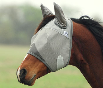This Standard sized Crusader Horse fly mask has the covered EARS has all the benefits of the UV protection for your horse with soft micro mesh nylon sleeves to protect the ears.