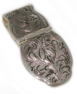 Silver Open Hinge Western Money Clip, western Silver money clip, Money Clip,silver money clip, silver western money clip, money clip men, money clip silver, western gold money clip, cowboy money clip,