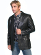 This Scully Mens Black Lamb leather Western blazer comes in long and extra long sizes for mens big n tall cowboys