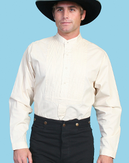 Mens Scully White western star pull over shirt