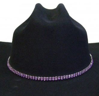 Purple Rhinestone cowboy hat band, crystal hat bands, girls cowboy hat bands, silver hat bands, cowgirl hat bands