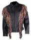 Ladies Brown and black fringe western style jacket