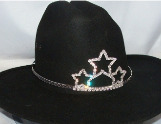 Quot Triple Star Quot Rhinestone Cowboy Hat Tiara Usa Made