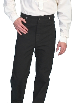Mens Black Canvas Scully Wahmaker Duckin Frontier Pants USA MADE, scully wahmaker pants, scully wahmaker clothing, scully wah-maker, wah-maker pants, western pants, scully pants