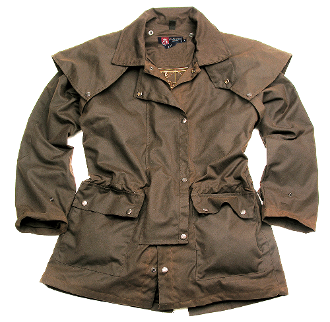 """Workhorse Jacket"" Kakadu Oilskin Brown Duster Jacket, black oilskin jacket, kakadu duster, waterproof duster, duster jacket, oilskin duster coats, oilskin jackets, oilskin coats"