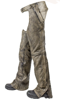 Distressed Brown Leather Chaps, Brown Leather Chaps, western chaps, western chaps for men, western chaps for women, western chap chinks, rodeo chaps, western chaps and chinks, leather western chaps,