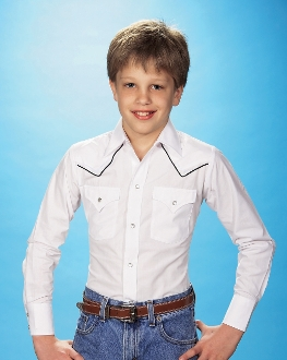 Kids Ely Black Piped White Western Shirt, Kids Ely Piped Western Shirt,child western shirt, western shirts for kids, child western clothing,