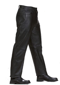 These Men's 5 Pocket Black Leather Riding Pants are made from top grade genuine leather lined for comfort and heavy duty to protect you while you ride yet soft to the touch for an excellent quality riding pants.