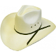 """The Matt Farris Collection"" Natural Pinch Front Cowboy Hat is made of a easy clean canvas straw and is the same as worn by Matt Farris in the country western music video and will become your favorite straw hat as well."