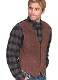 This Scully Mens Boar Suede Espresso Western Dress Vest is the perfect wedding vest for men also available in matching for kids and economically priced to please the bride and yet a perfect cowboy look