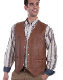 This Mens Scully Saddle Tan Lambskin Leather Snap Western Vest is a classic old west vest for men. This frontier vest is made of soft lambskin leather with front pockets and snap closure.
