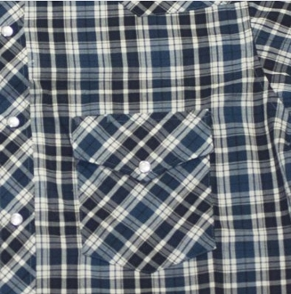 This Mens Blue and Black Plaid pearl snap Short Sleeve Western Shirt is a great all around western pearl snap shirt for men with a cowboy look and western yokes available in mens sizes medium up to big and tall 3x