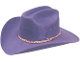 "This ""Purple Summit"" Faux felt traditional cowboy hat is made for adults and is in stock for those cowboys or cowgirls that love purple cowboy hats"