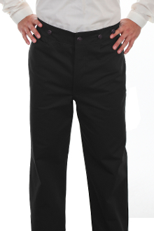These Mens Scully Black Herringbone Gentlemen Cotton Pants are made in the USA. These are the pants you'll want for those special occasions. button fly, two side entry pockets and suspender buttons