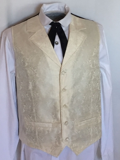 Scully Mens Cream Paisley Dress Lapel Western Vest Big Amp Tall