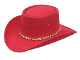 "The ""Little Joe"" faux felt Red Gambler cowboy hat is the same style worn by little joe on bonanza tv show. This western hat is made of felt for a great look that wont brake your pocket book. A true cowboy favorite or cowgirl hat."