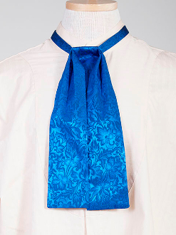 The Scully Royal jacquard silk Puff Tie is a classic old frontier or old west look to it made with quality material in the USA with matching vests available.
