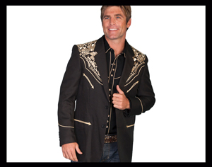 These men's western blazers are made by scully are fine quality leather and polyester for the man that likes to look sharp with his vintage traditional style or a throwback look of the old western country music days.