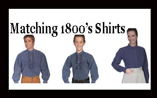 matching 1800s shirts, 1800s matching shirts, mens kids matching collar shirts, Mens 1800's Clothing, mens 1800 shirts, mens 1800 wear, mens 1800s shirts, 1800's clothing, 1800's clothing for men,