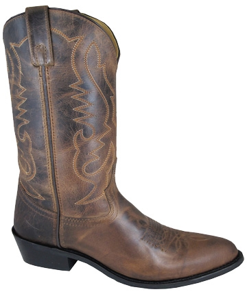 """Denver"" Mens 10.5 WIDE Brown leather Cowboy boots"