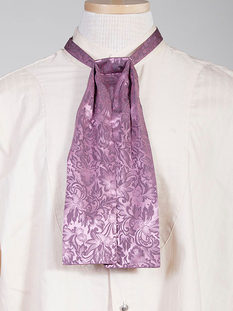 The Scully Rose jacquard silk Puff Tie is a classic old frontier or old west look to it made with quality material in the USA with matching vests available.