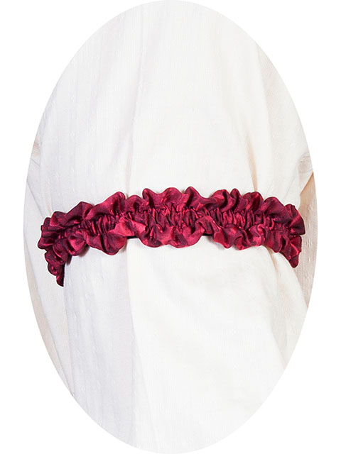 This Scully Wahmaker Burgundy Sleeve Garter is made in the USA a perfect gambler style wedding Armband for your shirt sleeve that matches the 19th century old frontier paisley mens vests
