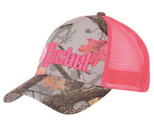 This Cashel Western HotLeaf Camo Baseball Cap is made for the trail rider horseback riding western gal to keep the shade off your head while on the ground or riding your horse. Back pink mesh to keep you cool.