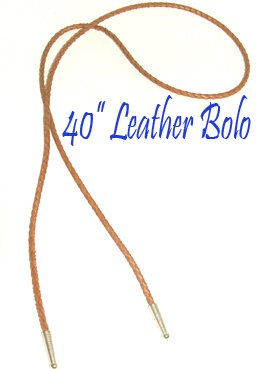 "This 40"" Brown leather Bolo tie String made in the USA makes a great replacement string for your existing bolo, hand made in the longer length in real leather with brass ends."