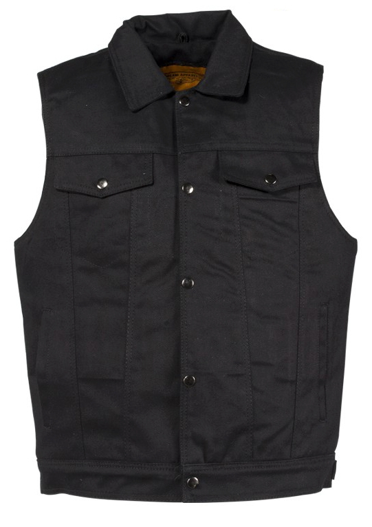 Mens Front Snap Black Denim Western Vest, mens western vest, western vest for men