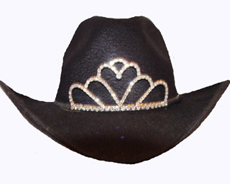 Princess Rhinestone Loops Cowboy hat tiara is proudly made in the USA for the little miss of the rodeo to be crowned by this cowboy hat tiara is an exciting look an any cowgirl competing to be the horse show winner.